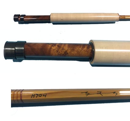 Eden Cane H704 2 Bamboo Fly Rod W Coa Reel Seat