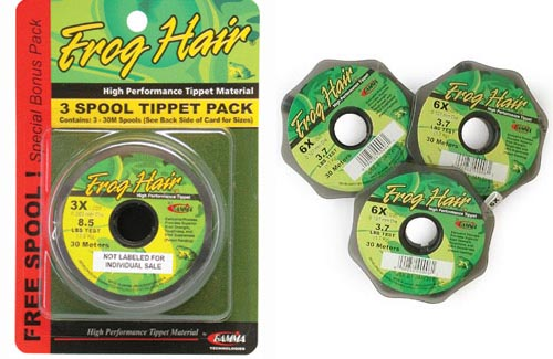 Frog hair 0x 9.5/' Stiff Butt//souple Tip Tapered Leader