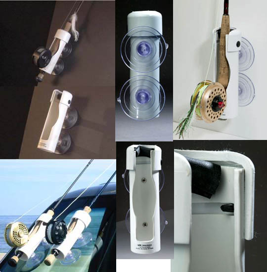 I fly suction cup rod holders for Fly fishing rod holder