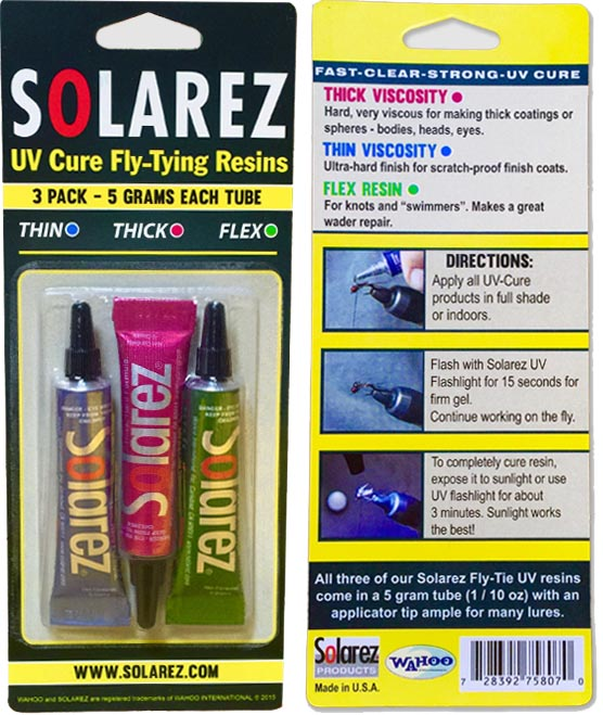 Solarez UV Clear Coat 3 Pack - Flex, Thin Hard, Thick Hard