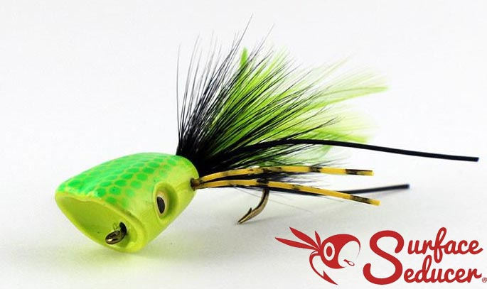 surface_seducer_double_barrel_bass_bug_popper_yellow_chartreuse_lg