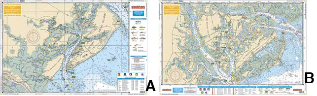 Waterproof inshore fishing chart hilton head beaufort for Hilton head inshore fishing