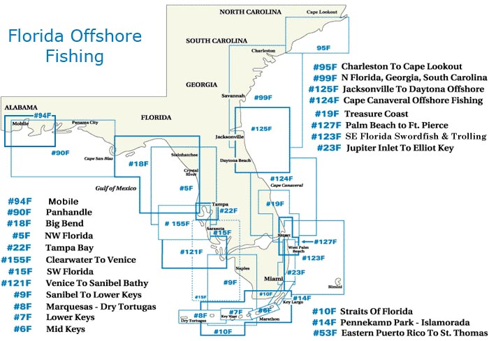 Waterproof Offshore Florida Fishing Charts At Bearsden Com