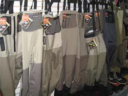 Wall of Waders – Simms, Orvis, William Joseph