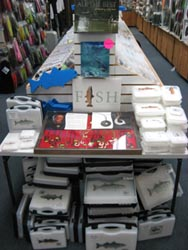 Front Table of Fly Boxes