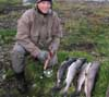 Baldur has a great day Salmon fishing - up to 10#
