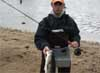 Not a bad striper from Shore – Travis on may 6th