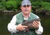 Paul DiNolo with Brook Trout from the Androscoggin - on a Mickey Finn Clouser