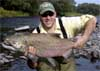 KAOS aka Russ with Coho at 25lb and 40 inches on the Salmon River