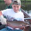 Mikey Deloia in Labrador catching trout