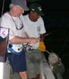 Jim Jacques broke his rod, but not his Nautilus 12 in Costa Rica landing a 190 lb Tarpon